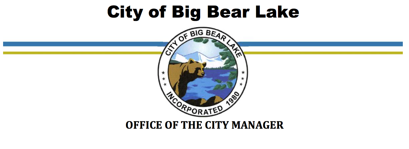City Manager Letterhead